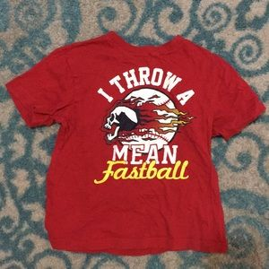 I throw a mean fastball t-shirt